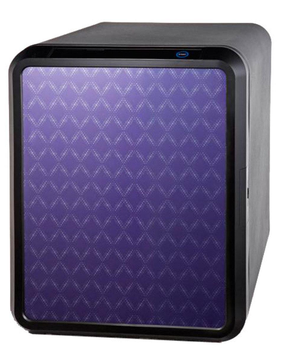 UNI-040NP 型格菱形閃紫電子密碼鎖 (附語音指示)