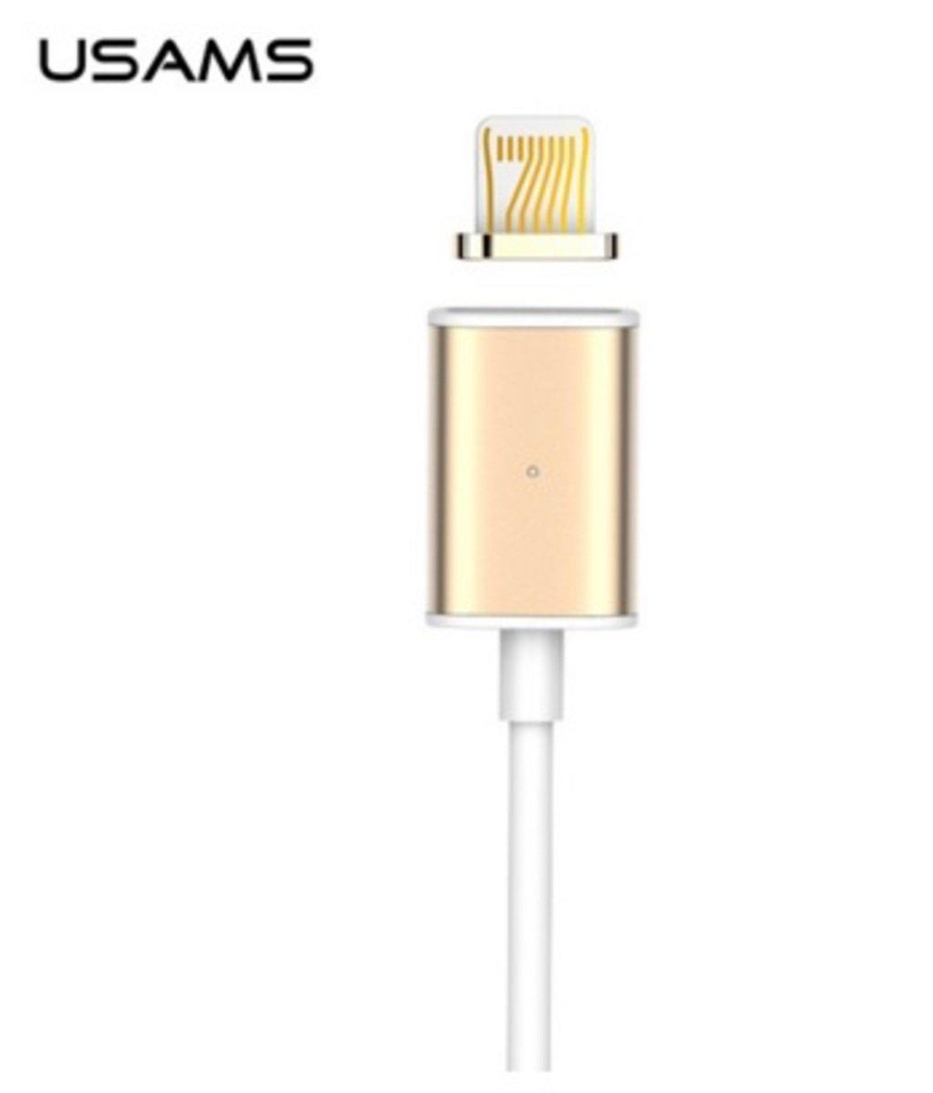 Usams iPhone 磁力數據同步及充電線 - 金色