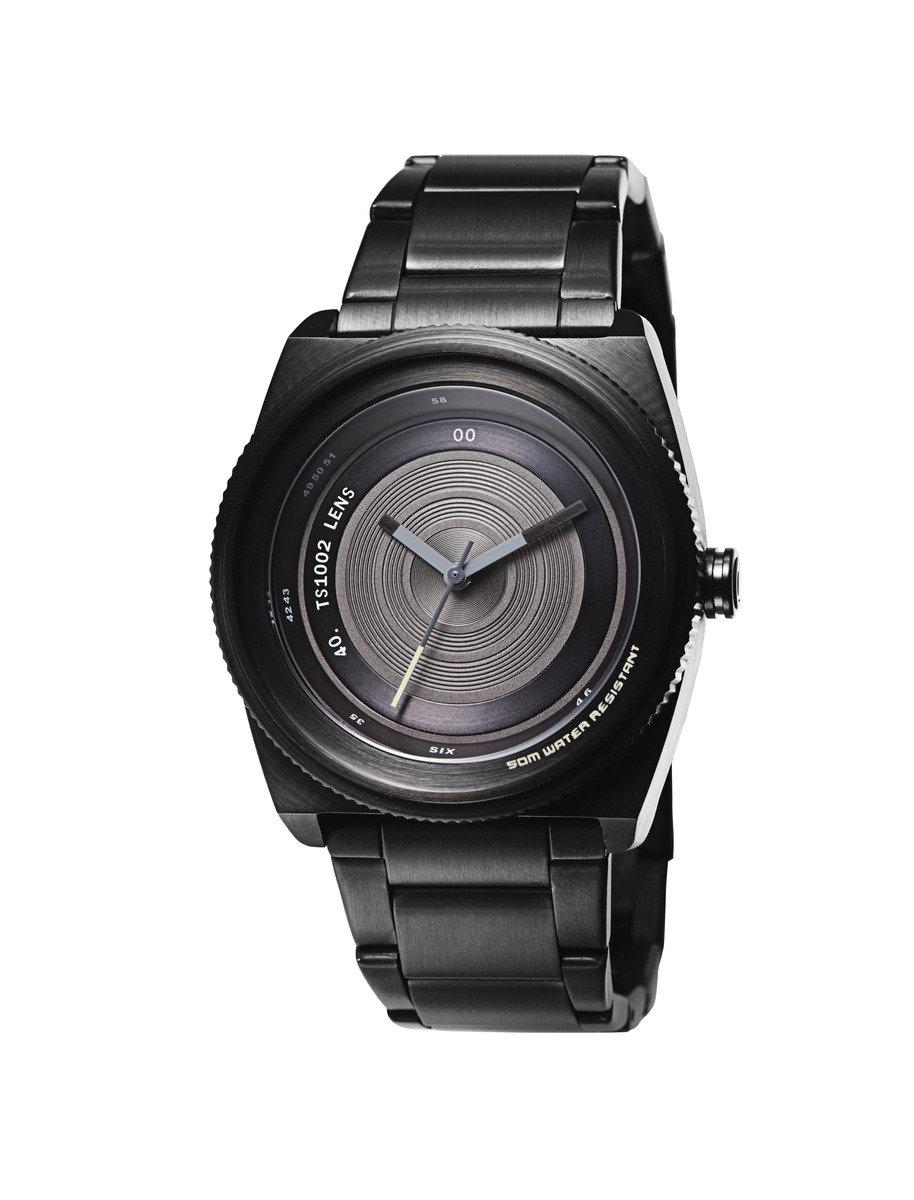 Lens-M石英鋼帶手錶