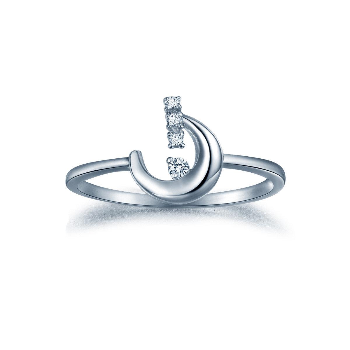 花之戀月形戒指