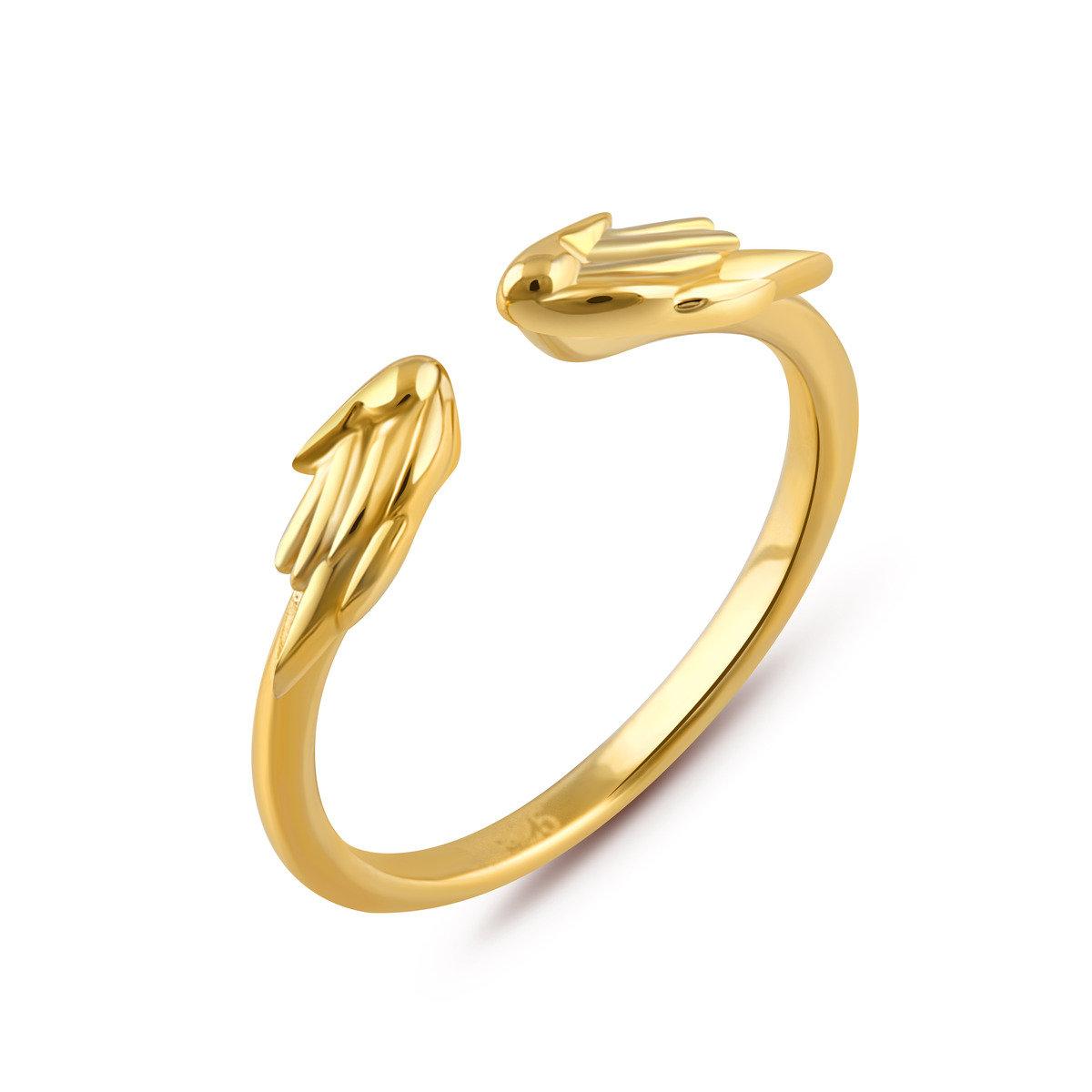 邱比特天使雙翼戒指