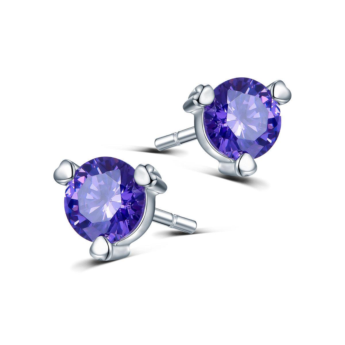 塞姬之吻紫耳環