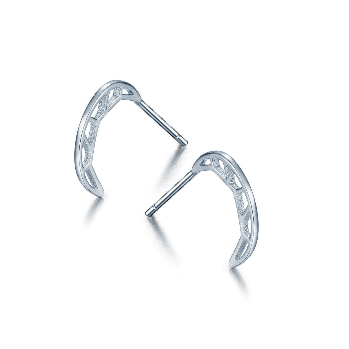 塞姬之吻月形耳環