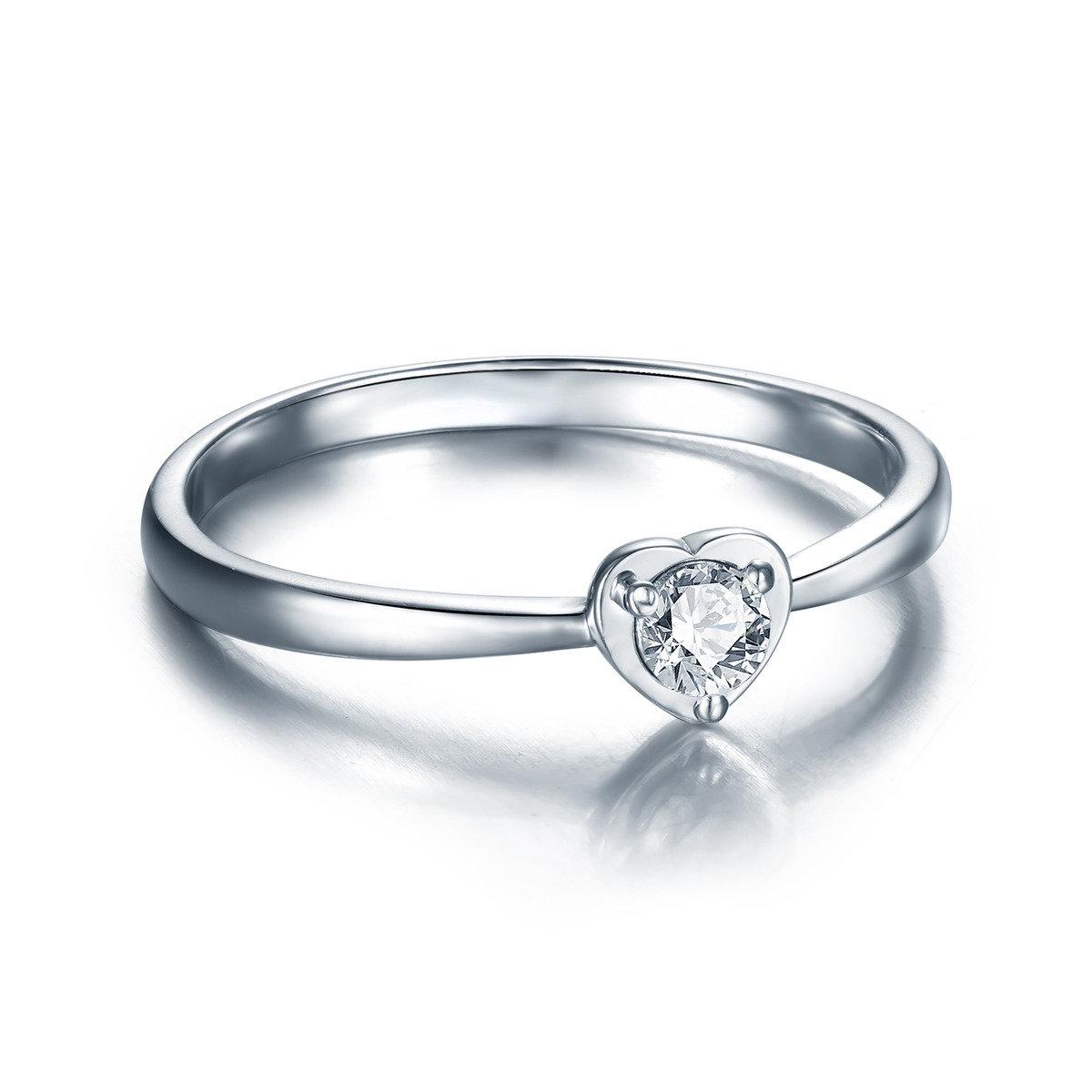 花之戀心形戒指
