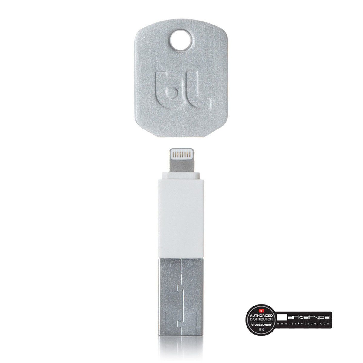 """Apple ligthning 插頭, """"鑰匙""""外形資料傅送/充電線"""