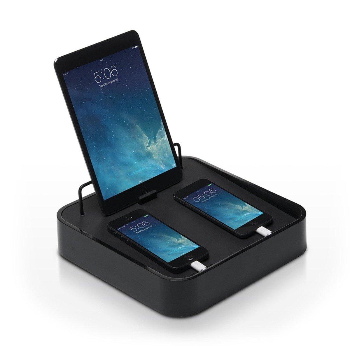 Sancturary 4 平板電腦和手提電話充電座- 黑色