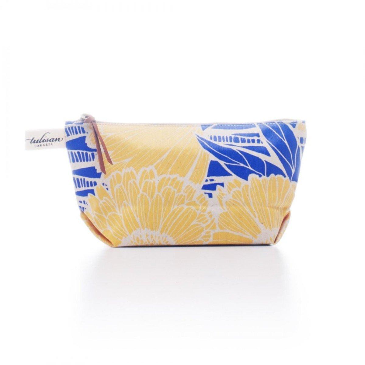 化妝袋 (中) - Yellow Sunflower