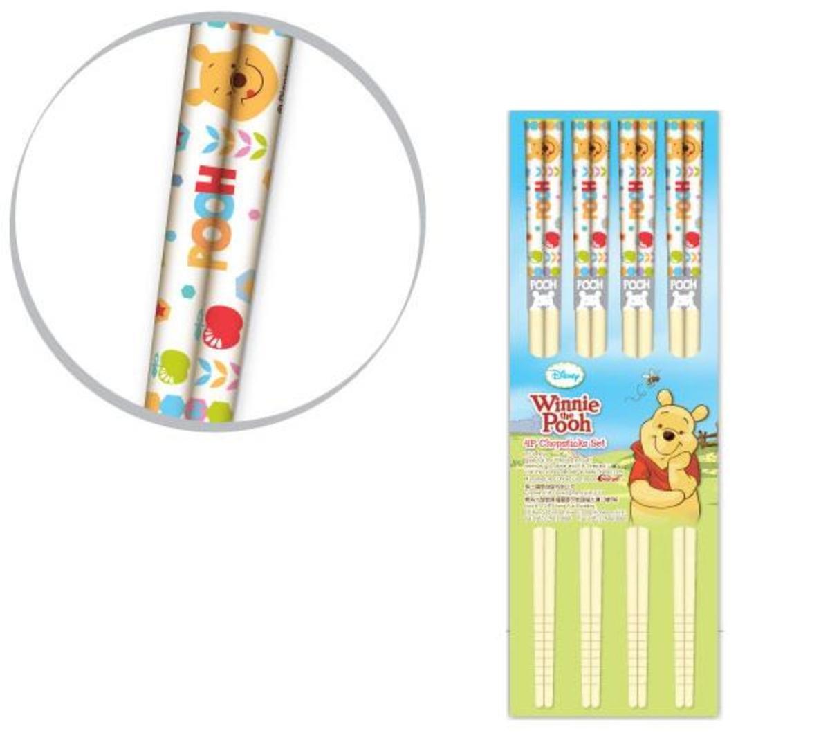 小熊維尼竹製筷子套裝