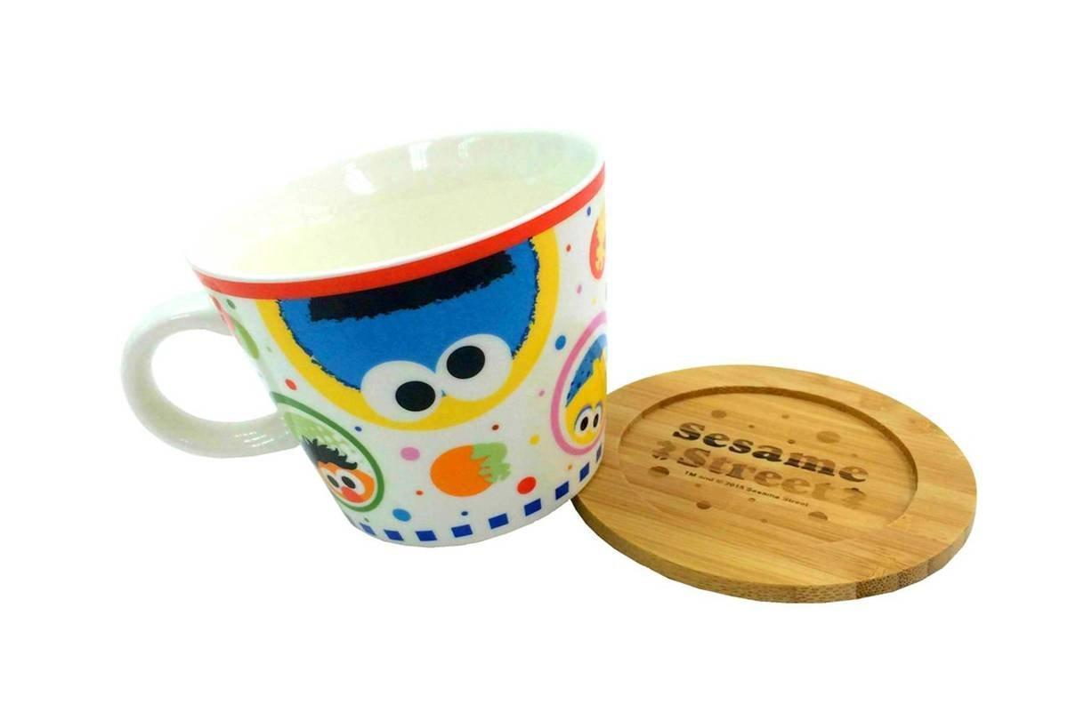 芝麻街 陶瓷杯連兩用杯蓋