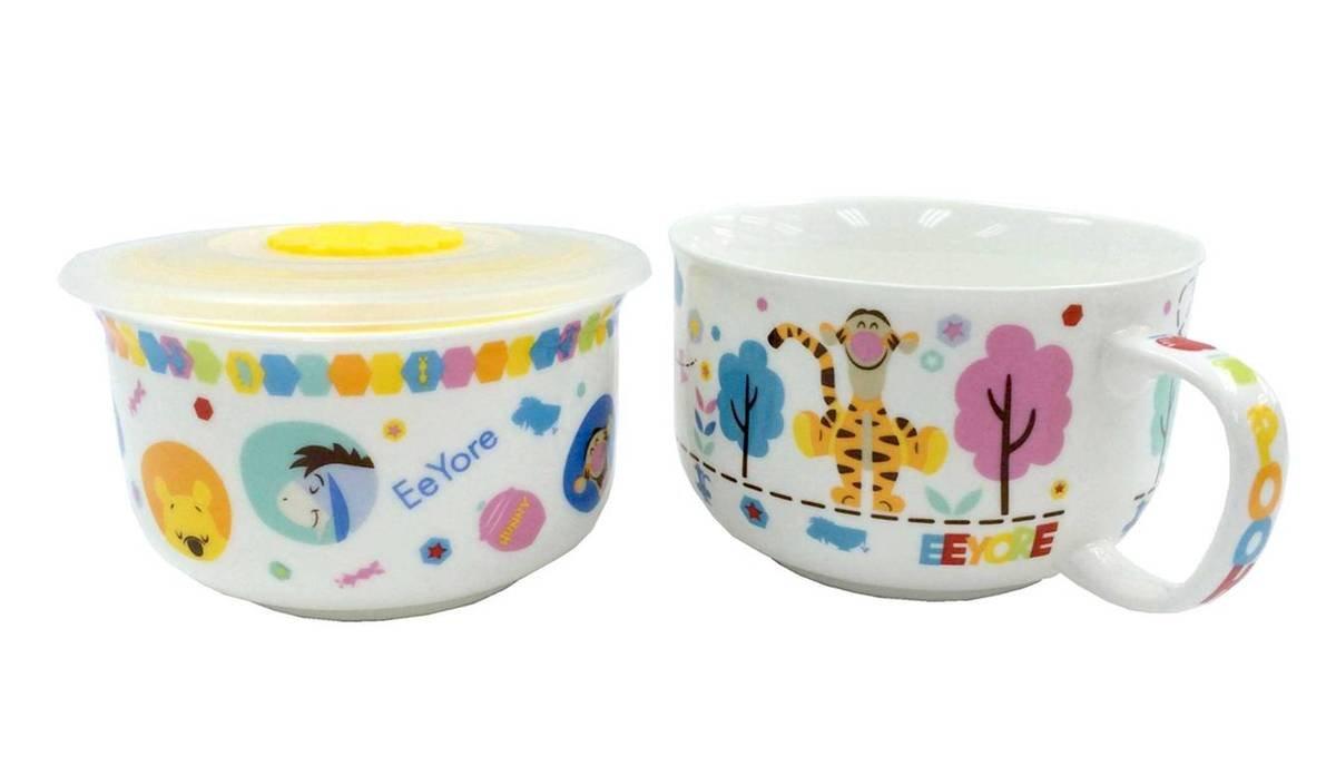 小熊維尼 陶瓷碗+湯碗連蓋套裝