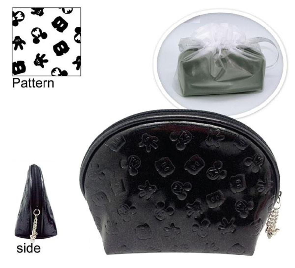 米奇PU 方型化妝包  (黑色)