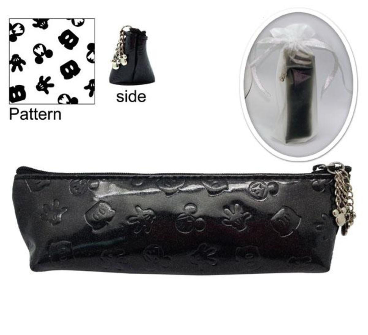 米奇PU 筆袋型化妝包  (黑色)