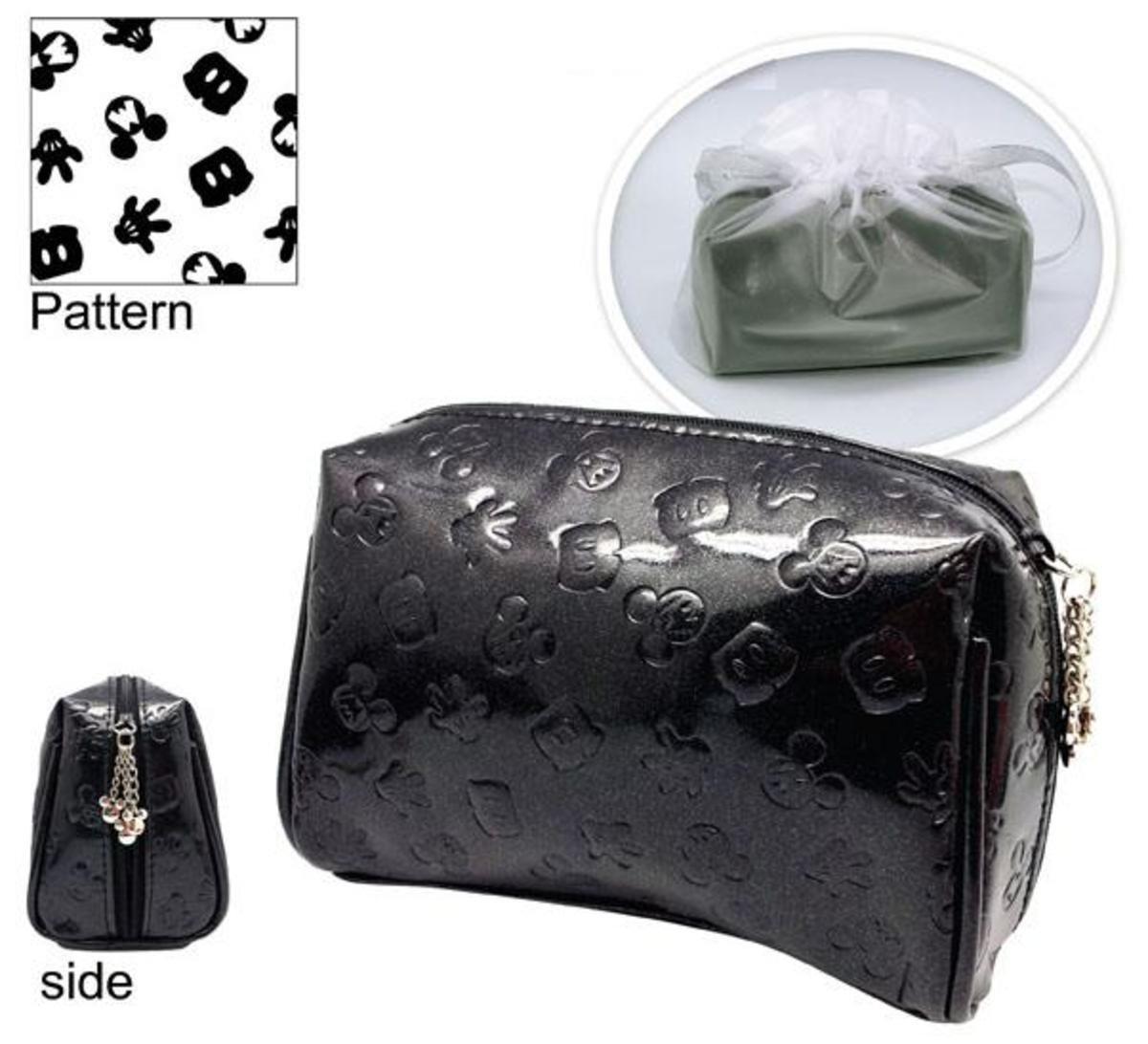 米奇PU 長型化妝包 (黑色)