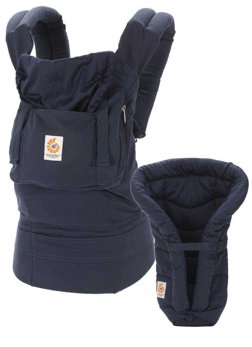 有機綿嬰兒揹帶加保護墊套裝 - 藍色 (2015年包裝)