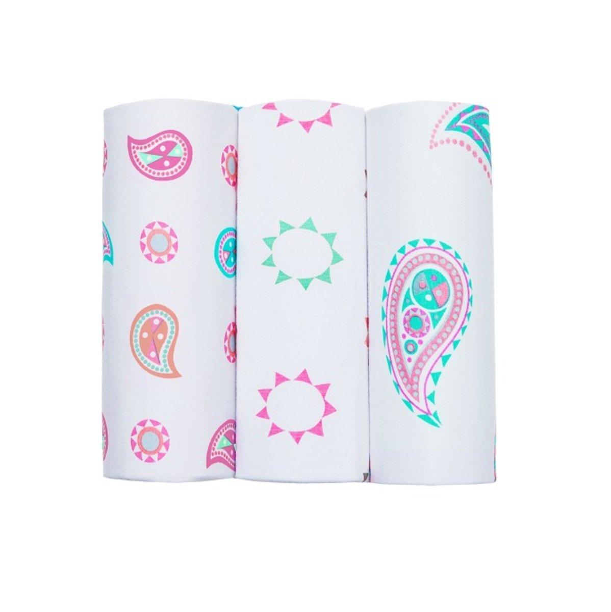 竹纖維嬰兒包巾 - 腰果花