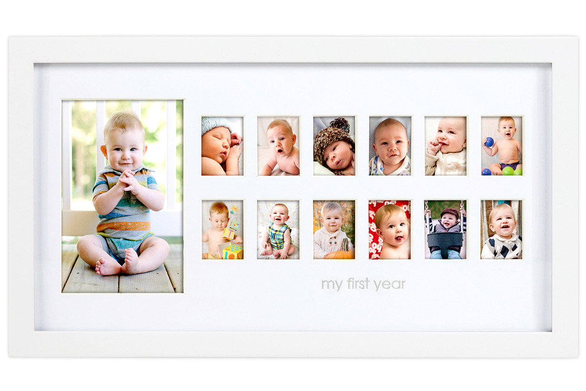 寶寶成長相框  - 白色