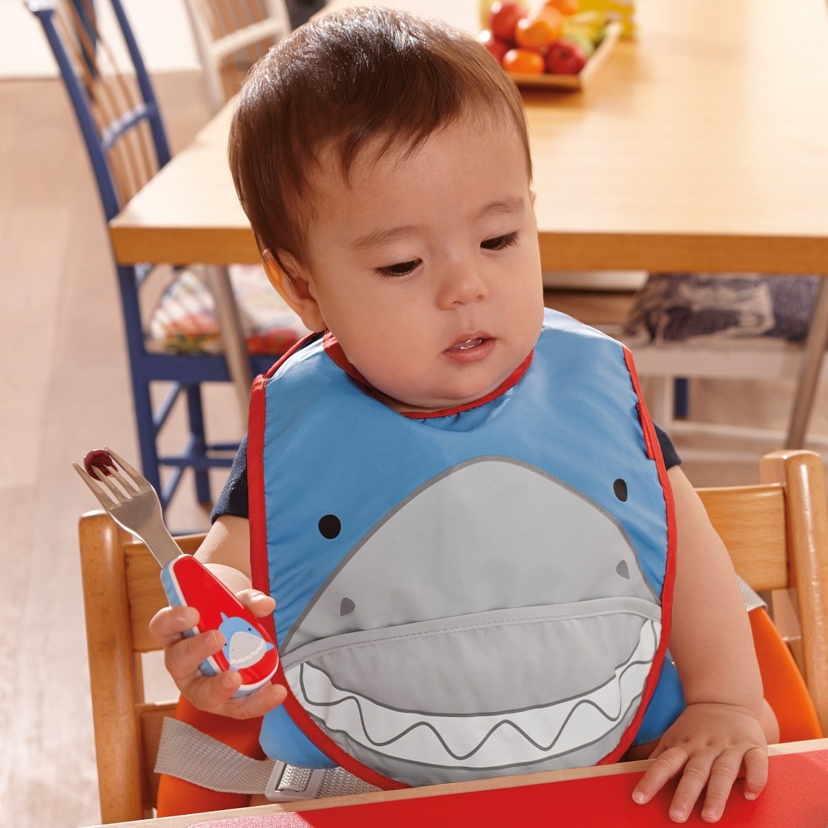 Zoo 可愛動物樂園圍兜(口水肩) - 鯊魚