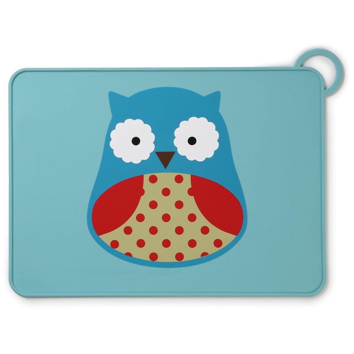 可愛動物園矽膠餐墊 - 貓頭鷹