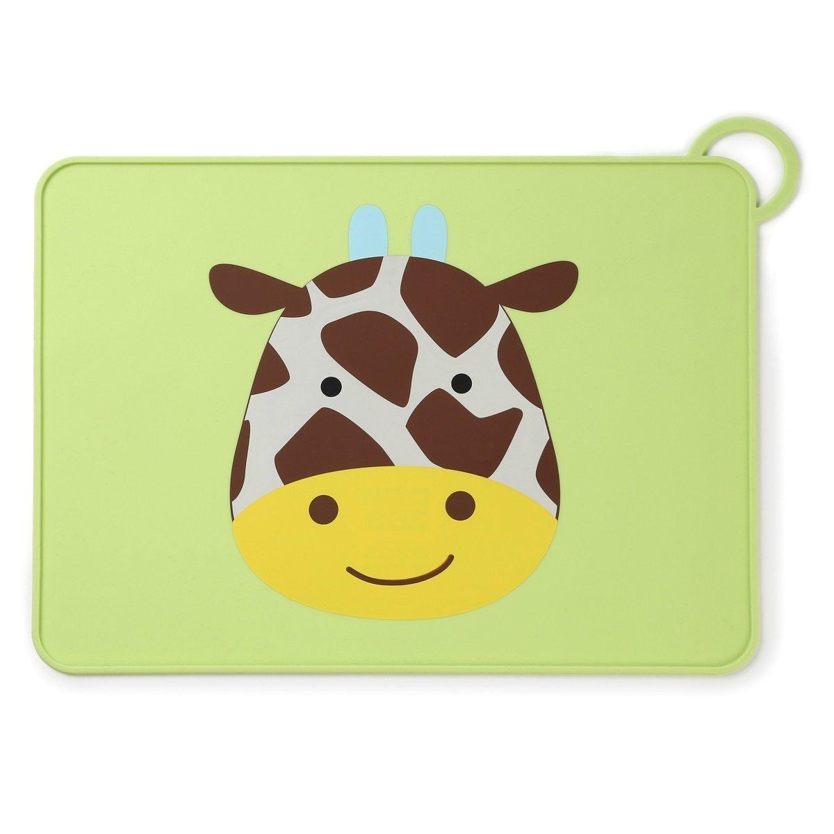 可愛動物園矽膠餐墊 - 長頸鹿