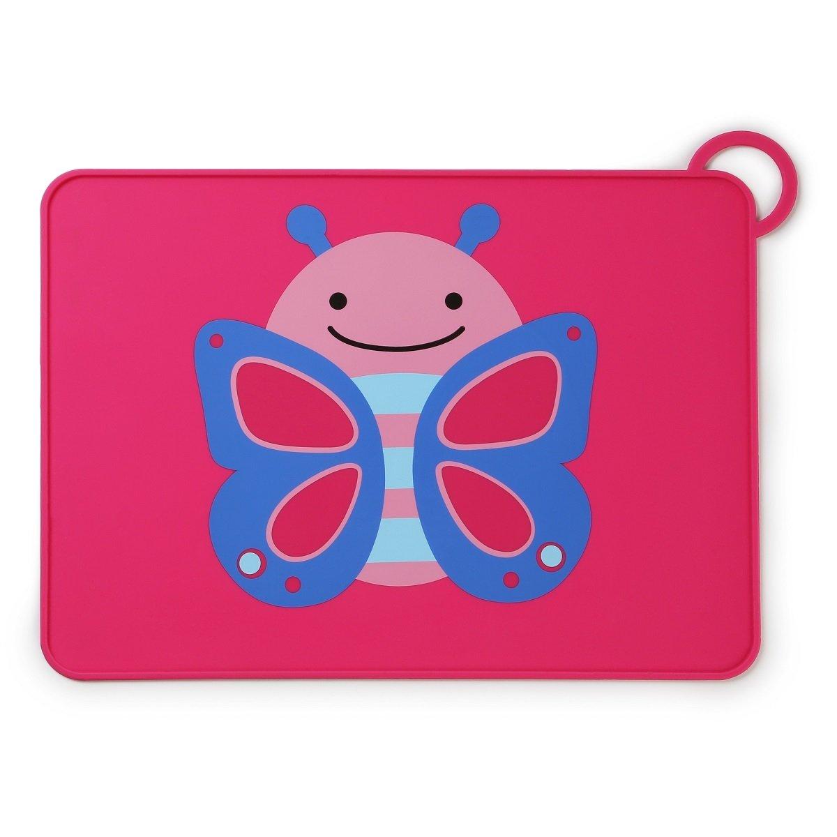 可愛動物園矽膠餐墊 - 蝴蝶