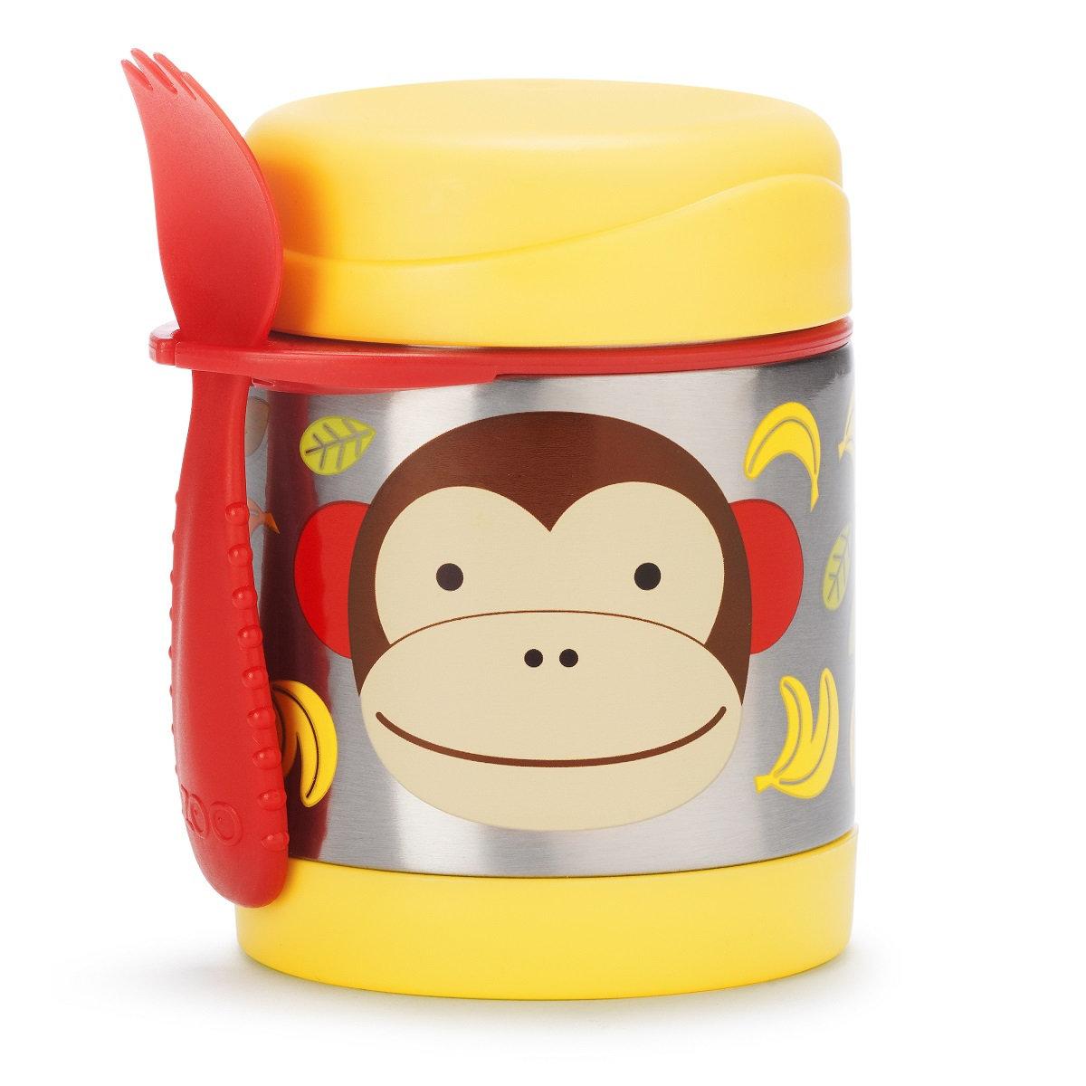 可愛動物園保溫食物壺 - 猴子