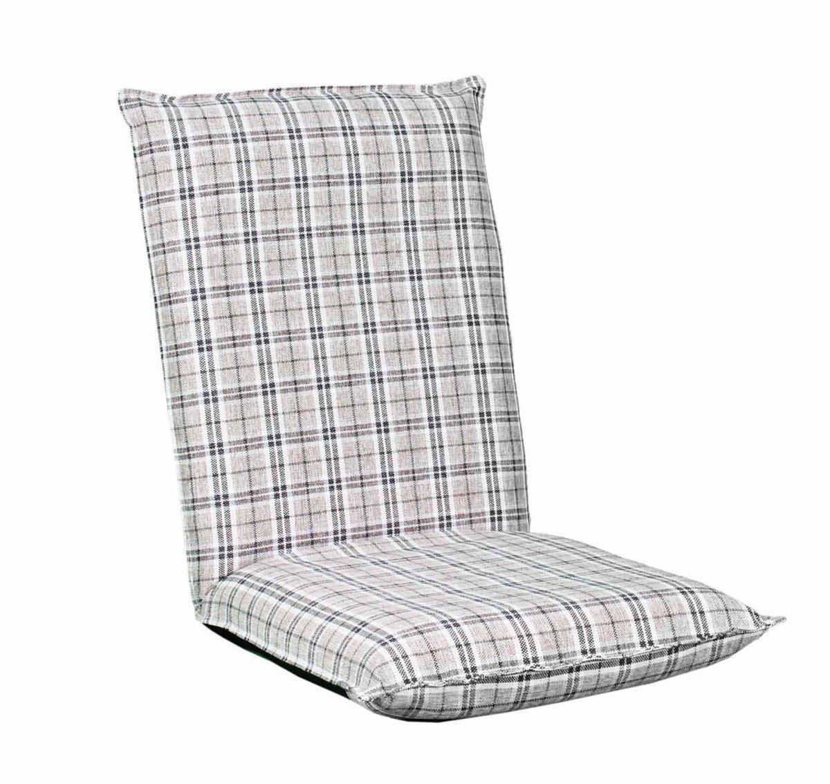 日式懶人沙發(格子仿麻布)