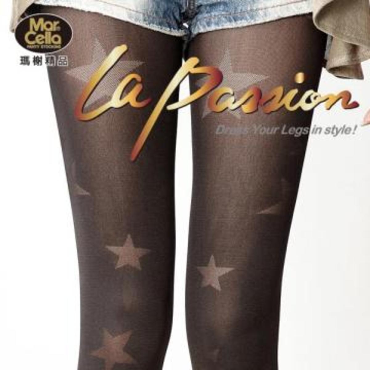 閃亮星星花紋褲襪 / 絲襪