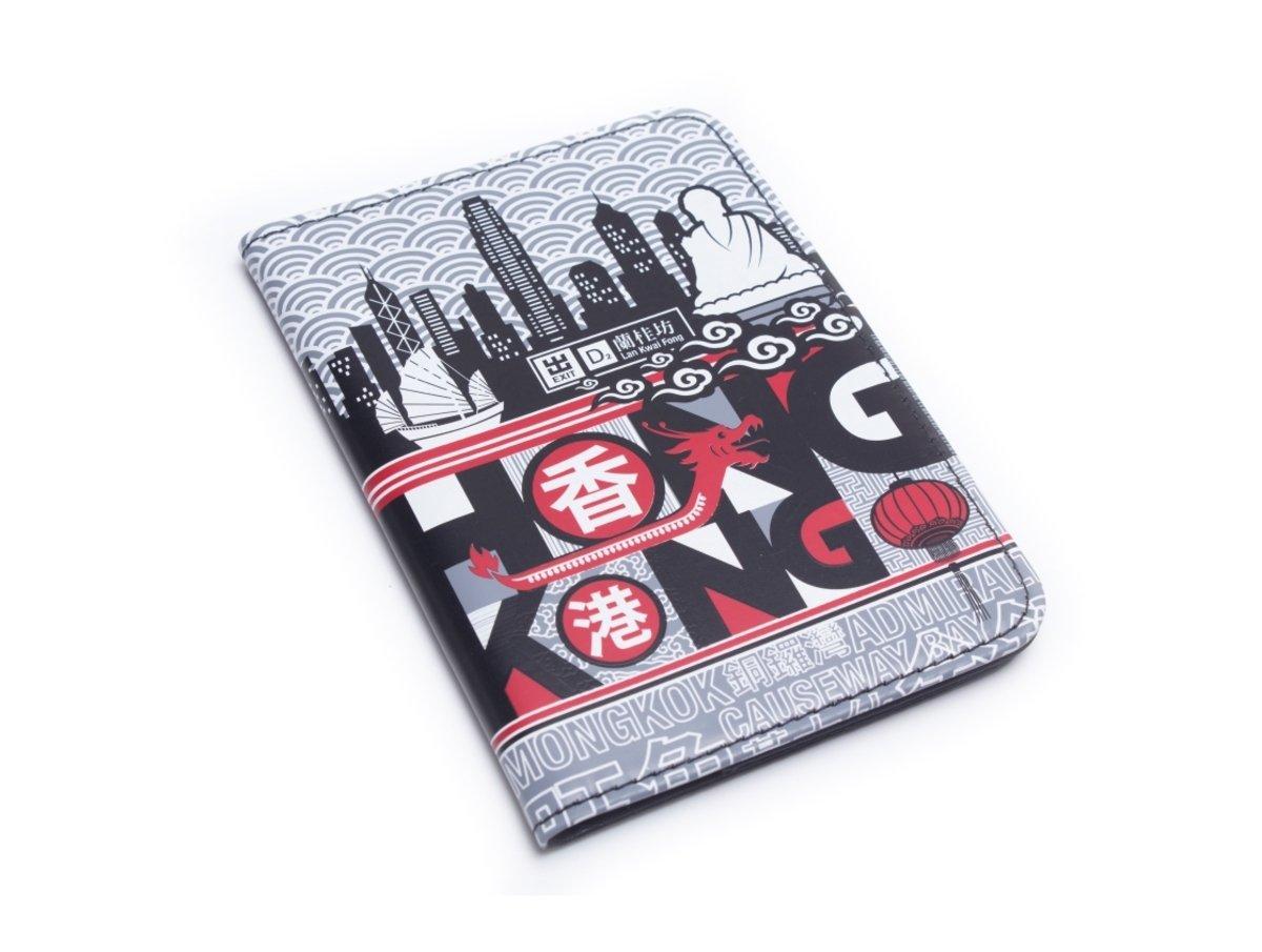 香港城市旅遊護照夾