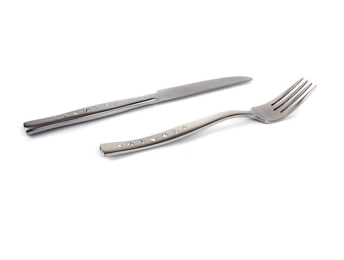Perky 施華洛世奇水晶鑽餐具 - 刀叉組