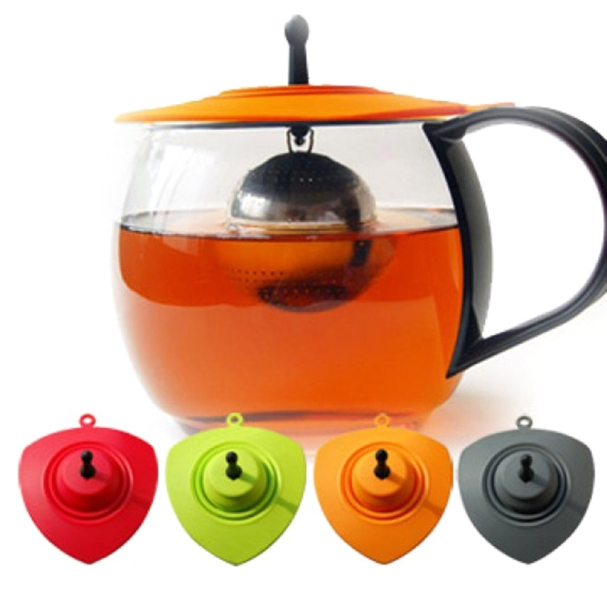 彈力濾茶球杯蓋組