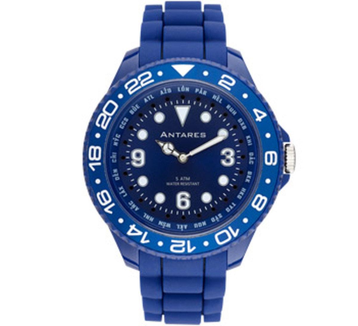 糖果色世界時間手錶 - 深藍