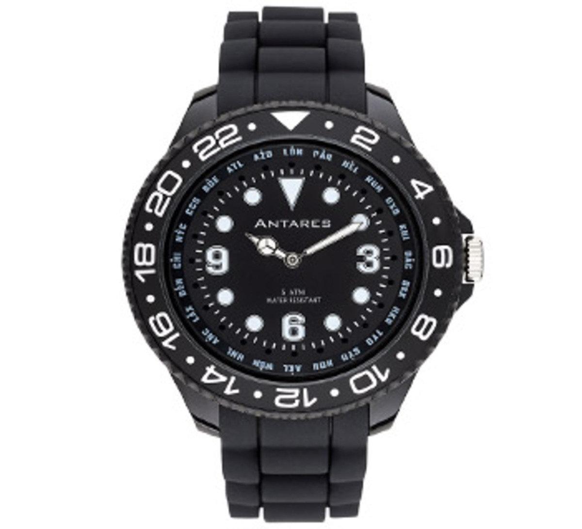 糖果色世界時間手錶 - 黑