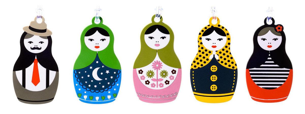 俄羅斯娃娃造型行李牌 - 淑女