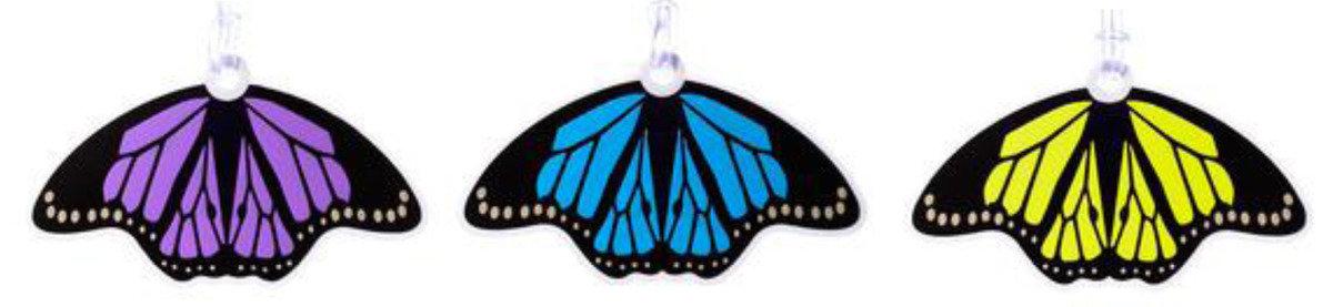 花蝴蝶行李牌 (藍)