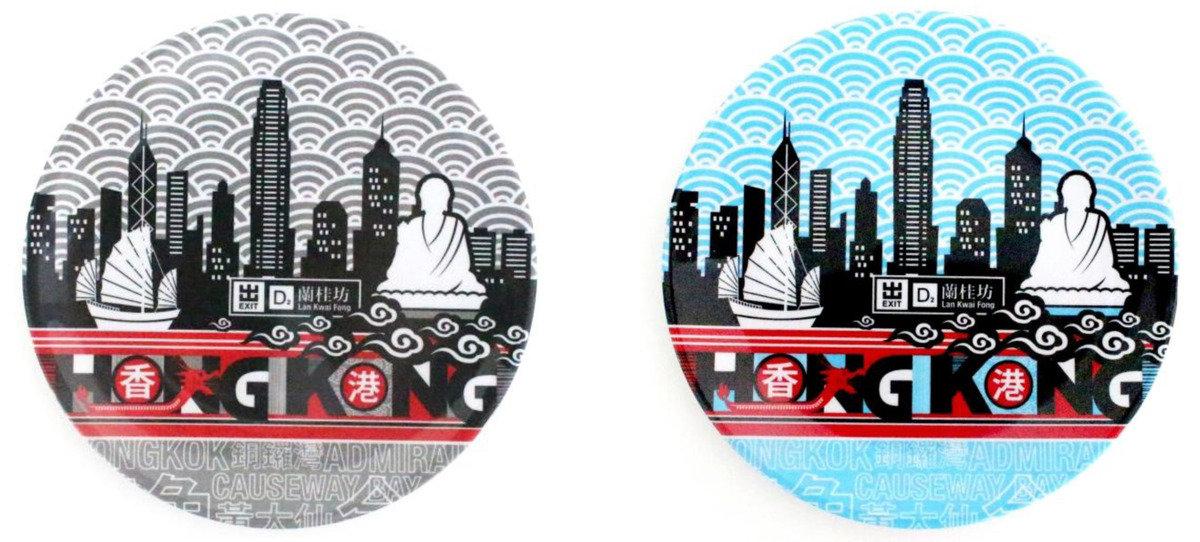香港城市膠碟  (灰)
