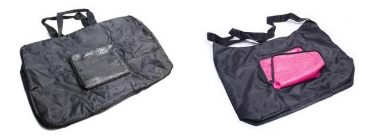 香港街道摺疊旅行袋 (粉紅)
