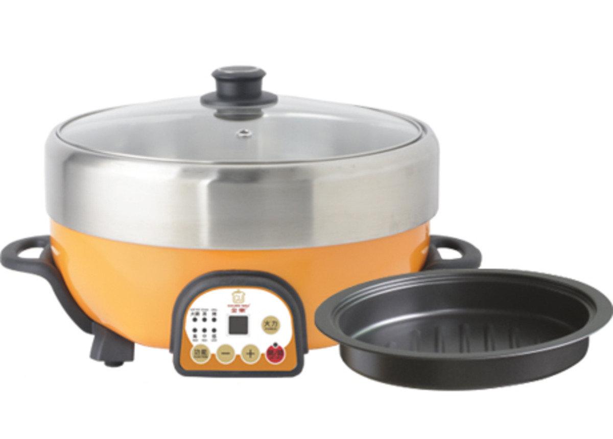 Goldenwell® 微電腦蒸烤多用火鍋 約 5公升