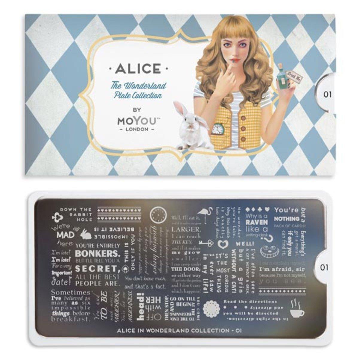 印花板 - 愛麗絲系列 01