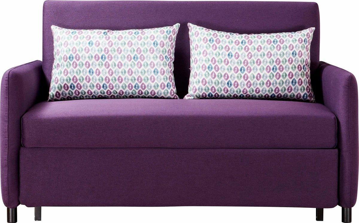 簡約布藝梳化床連抱枕(布套可拆洗) (紫色)