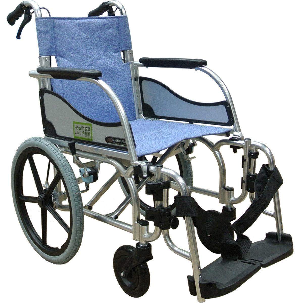 MW-SL4D 多功能輕輪椅 (46cm座闊、49cm座高、E-2藍色)