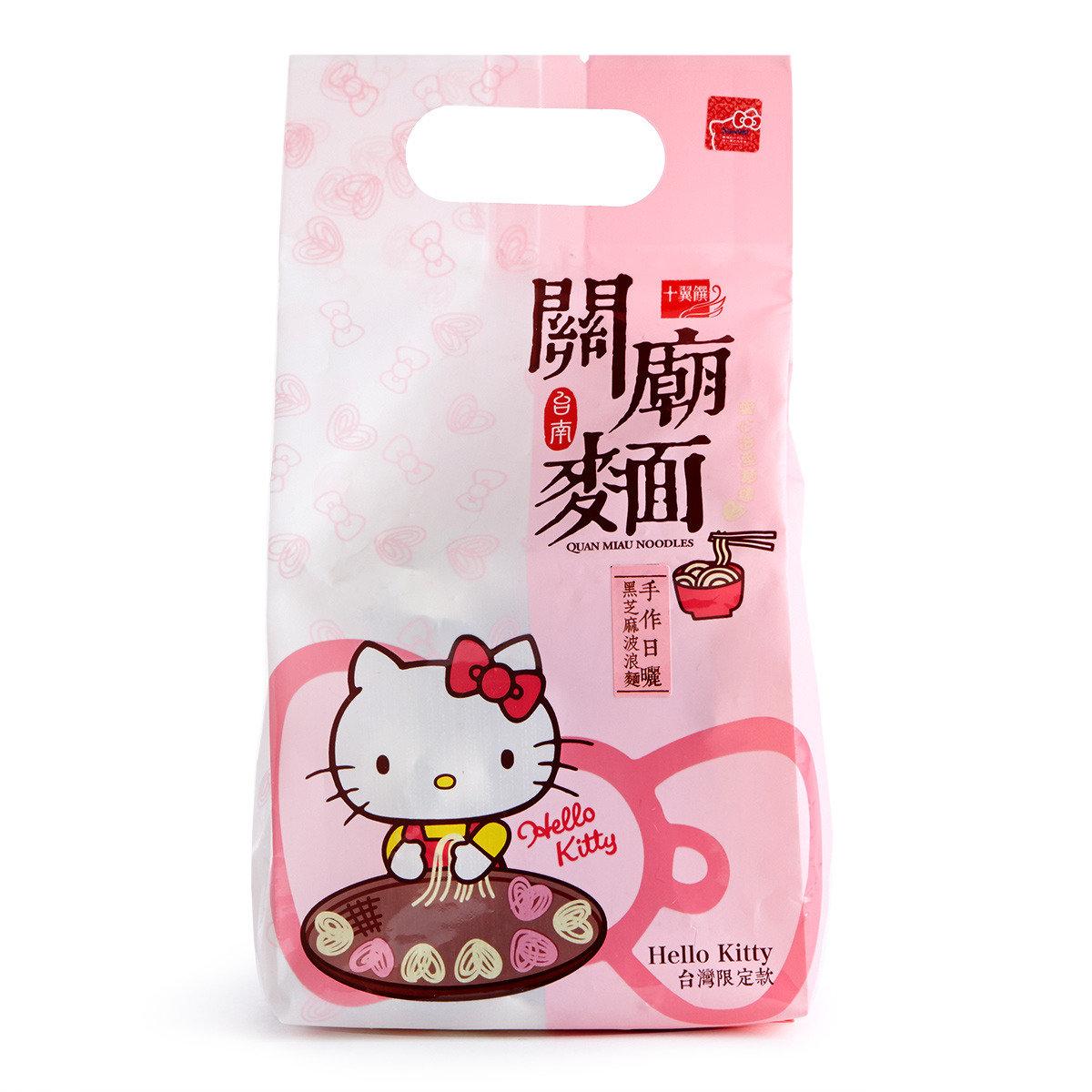 Hello Kitty台南黑芝麻關廟麵