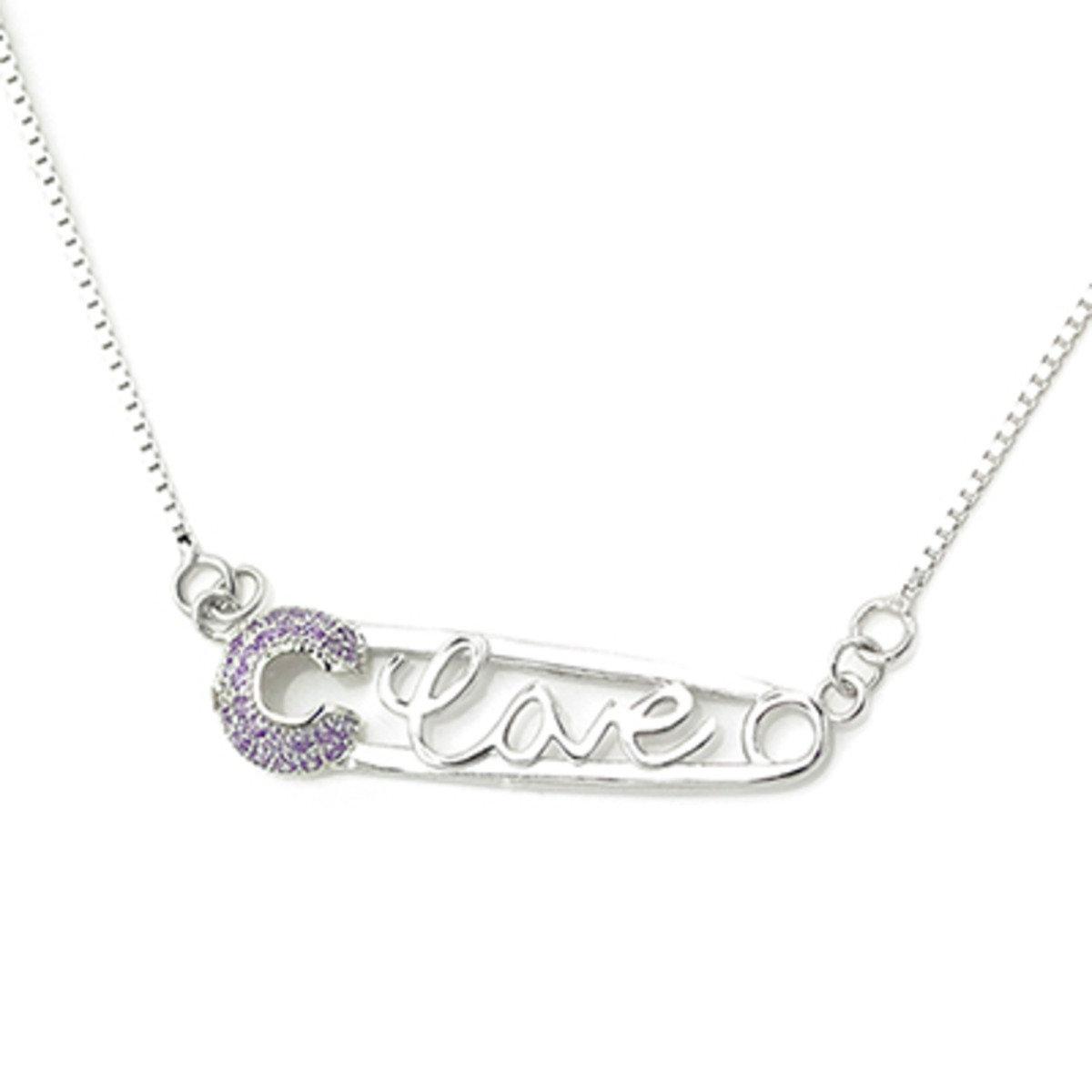 「情心緊扣」摯愛鋯石項鏈 - 925 純銀