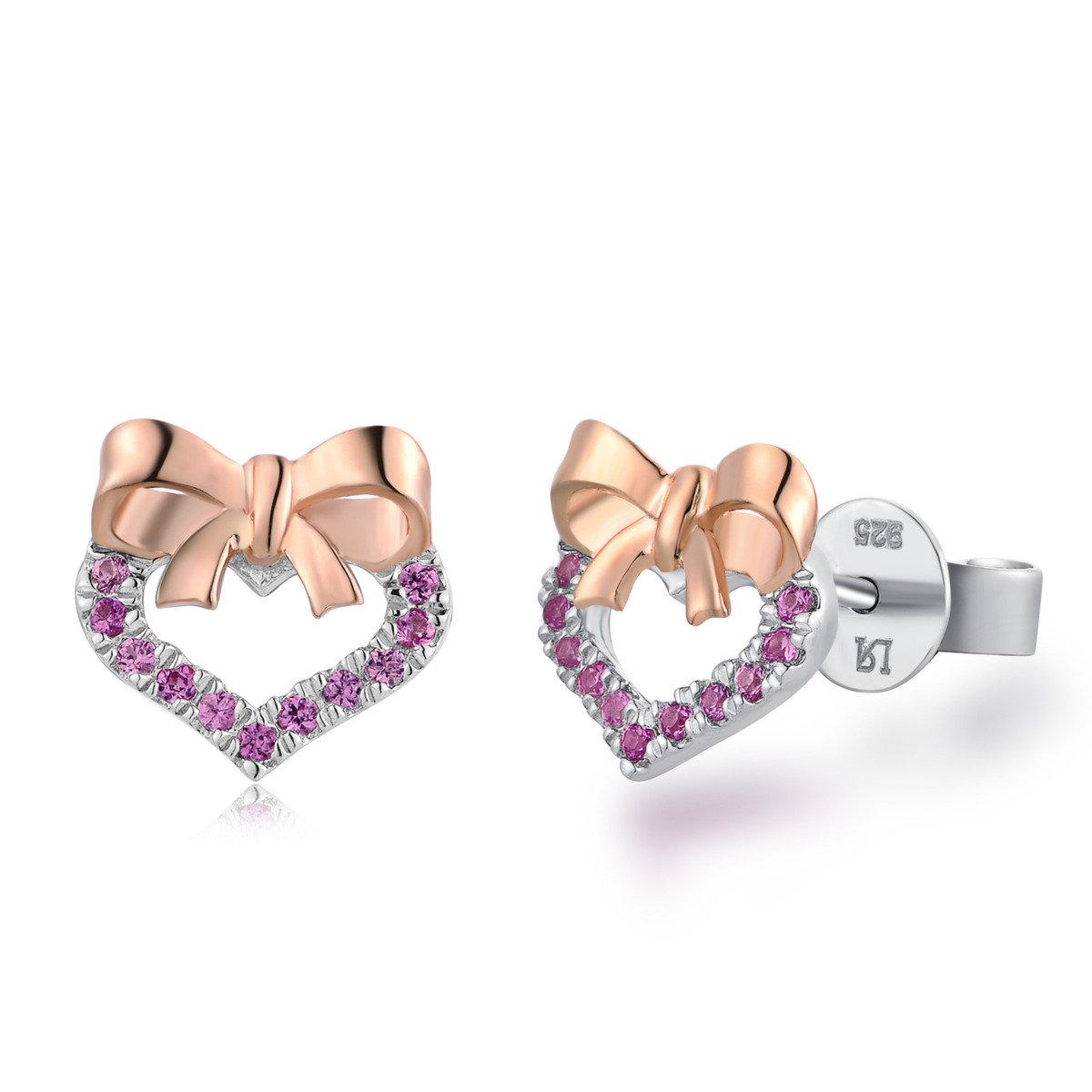 甜在心頭耳環 - 925 純銀
