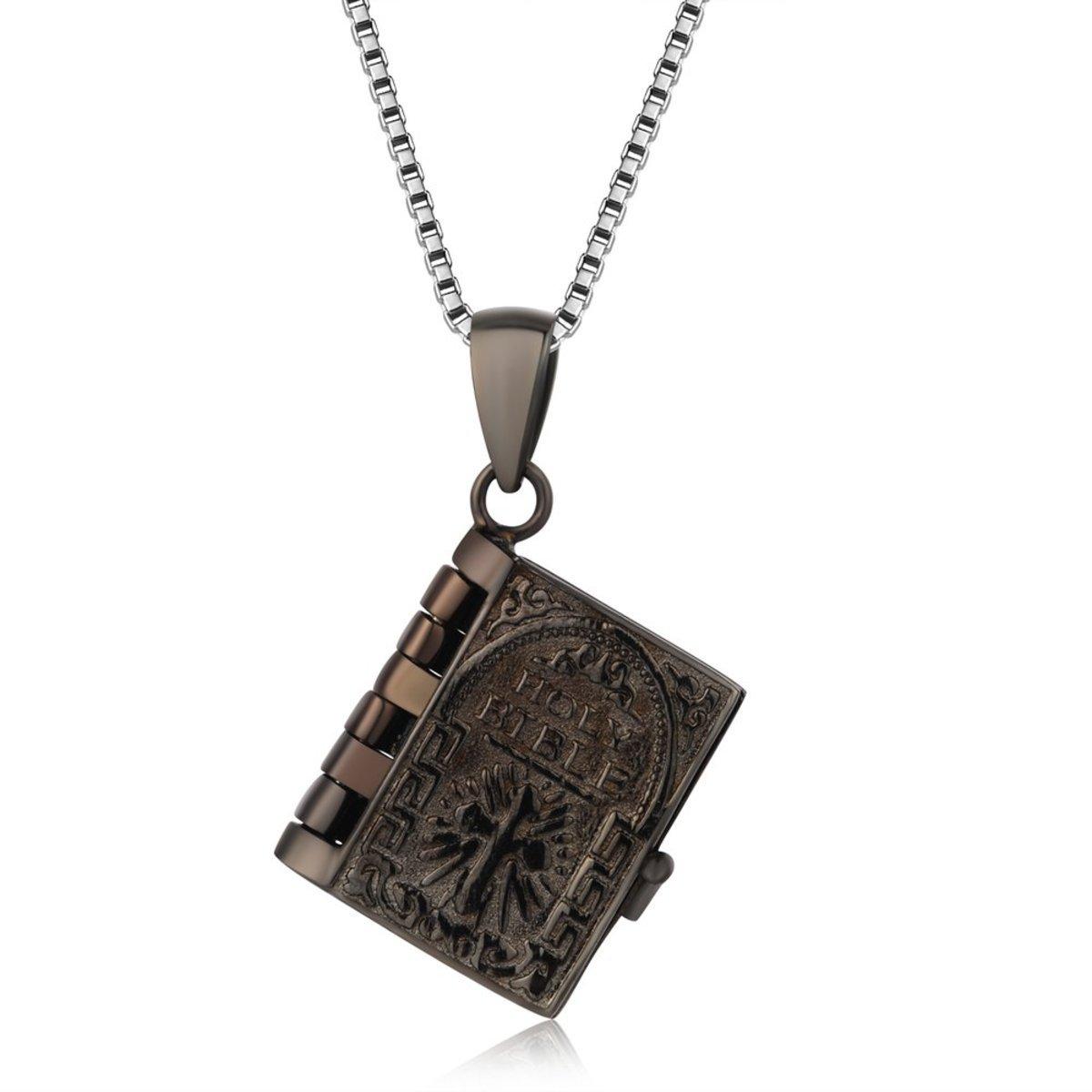 「神秘聖經」聖經項鏈 - 925 純銀