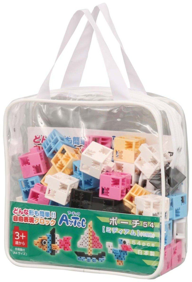 創意立體積木 (實色袋裝.54件)