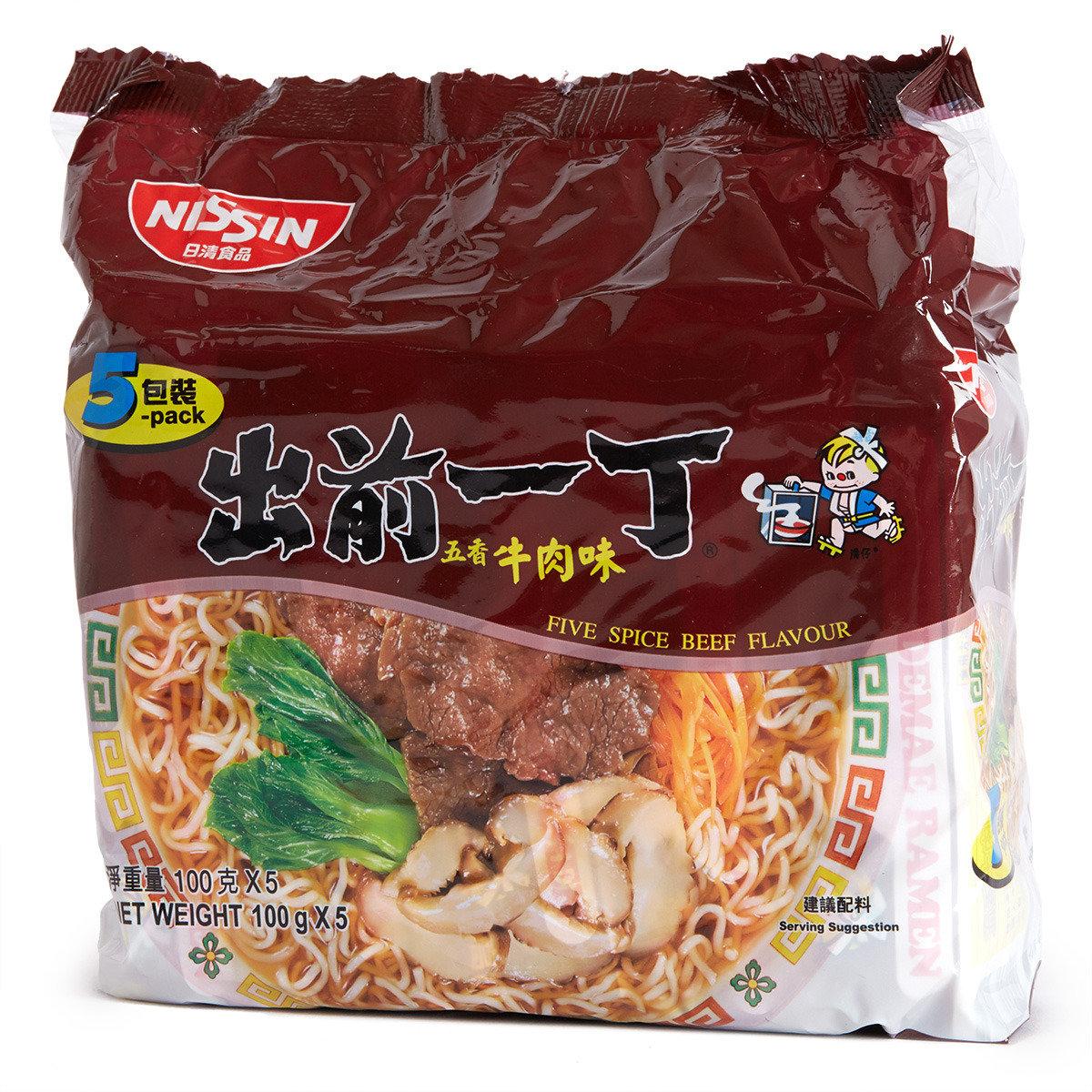 五香牛肉味即食麵