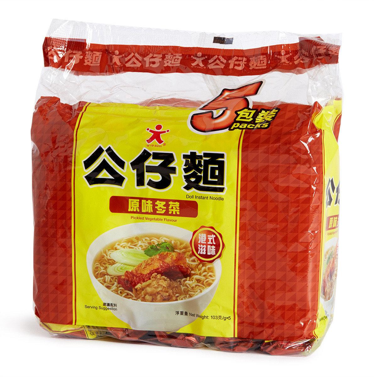 原味冬菜公仔麵