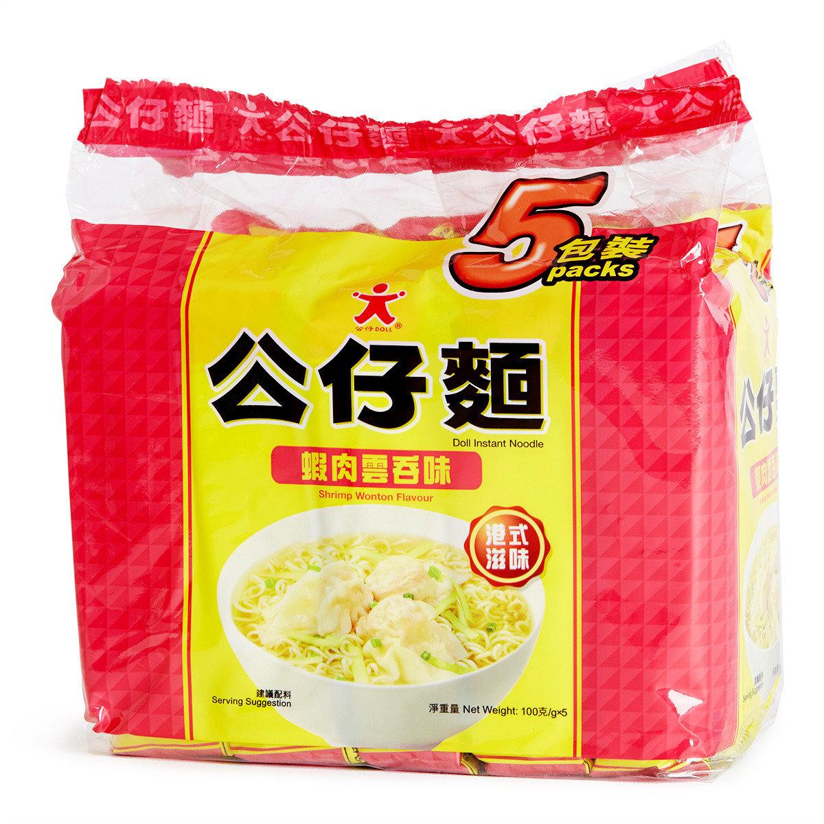 鮮蝦雲吞公仔麵