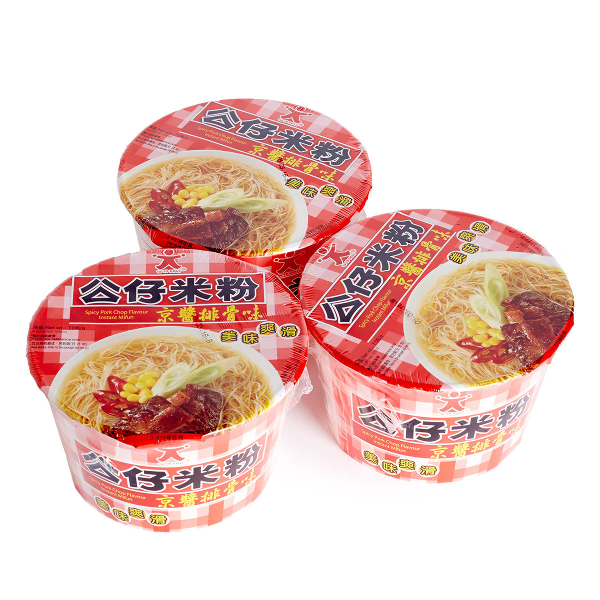 京醬排骨味公仔碗米粉