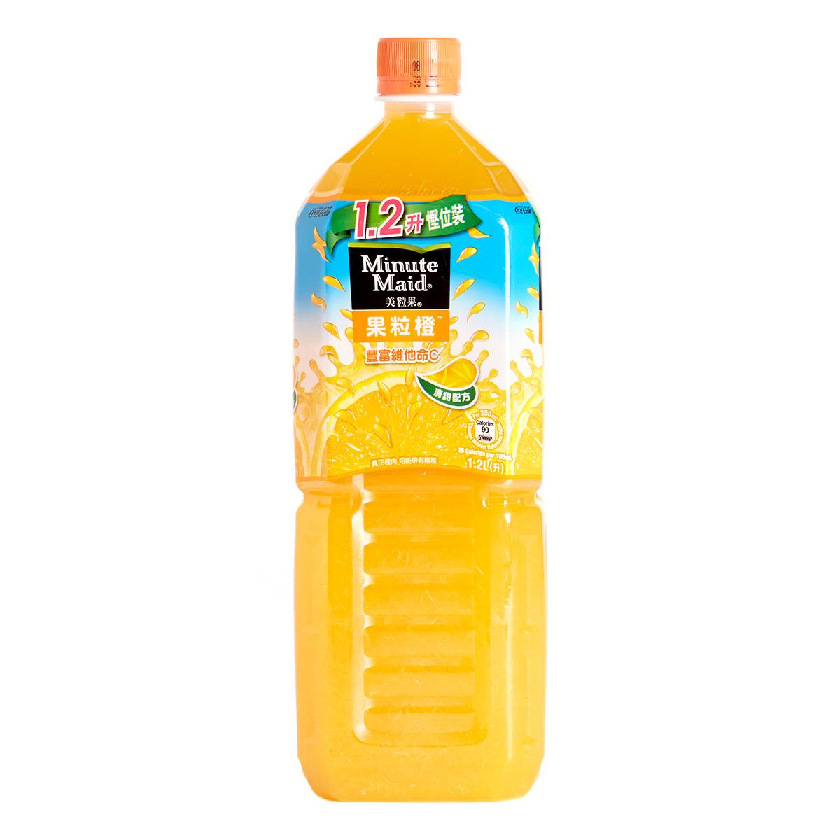 膠樽裝橙汁飲品